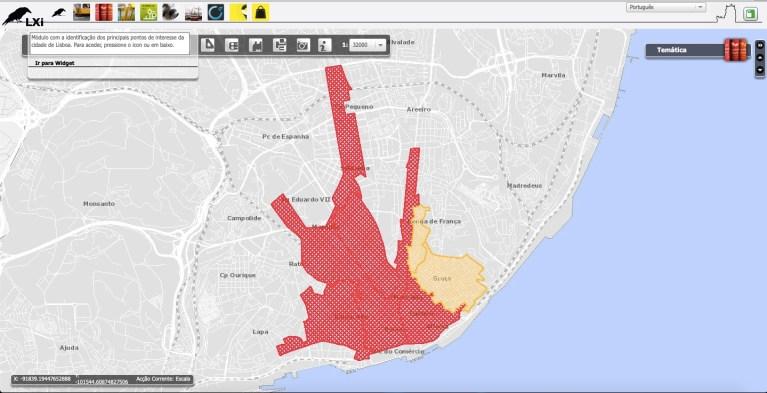 Zone de contention Lisbonne