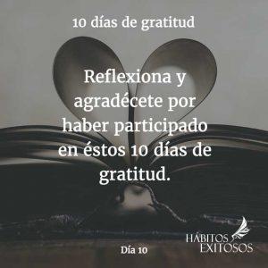 10 días de gratitud - Día 10 - Hábitos Exitosos