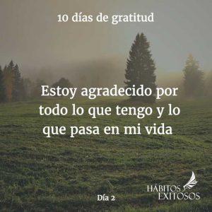 10 días de gratitud - Día 2 - Hábitos Exitosos