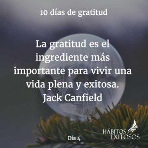 10 días de gratitud - Día 4 - Hábitos Exitosos