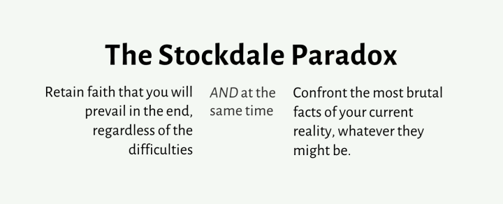 The Stockdale Paradox