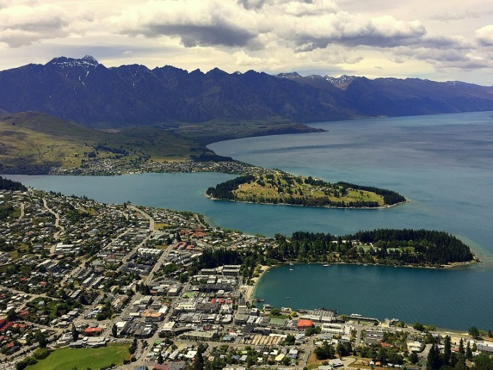 View of Queenstown from Bob's Peak.