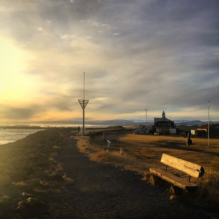 We randomly stumbled across Eyrarbakki harbour. The coastal views and sunsets make this one of my favorite places we saw in Iceland.