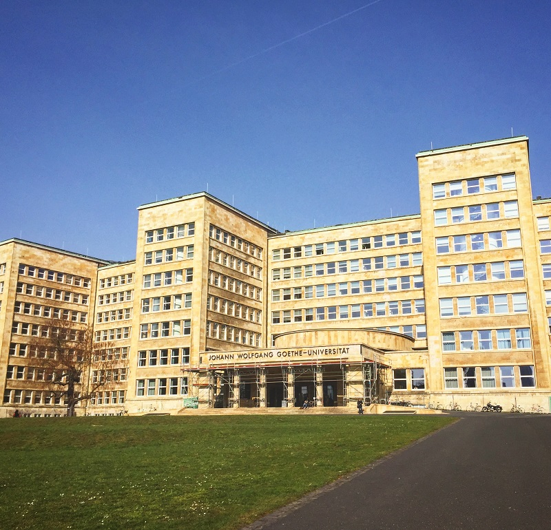 The Goethe University aka home to the laboratory I wanted to work in.