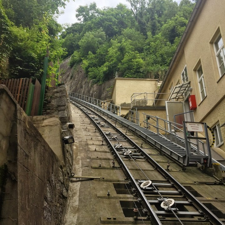 View from the Schlossberg Funicular