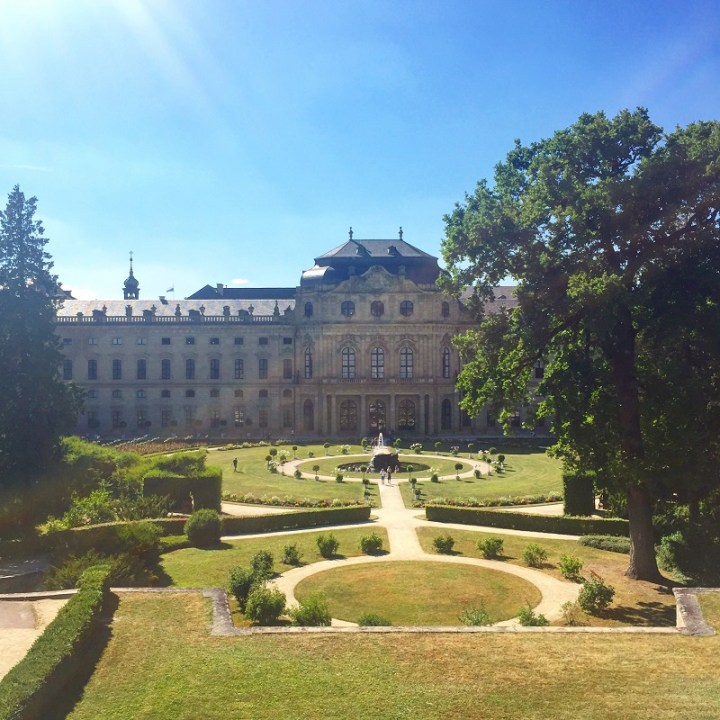 Würzburg Residence and its Court Gardens.