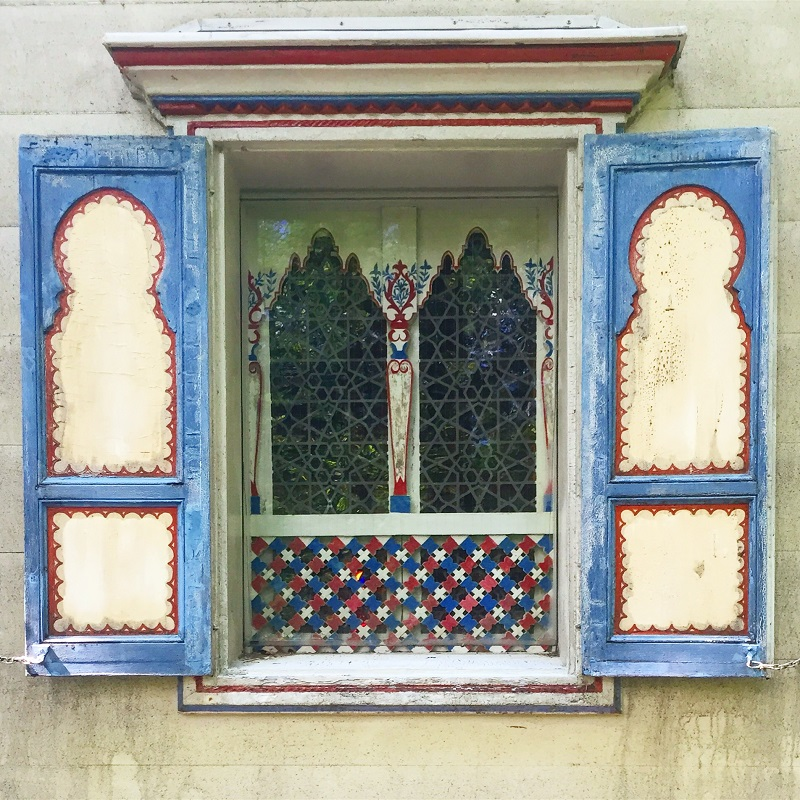 Here is one of the windows of the Moroccan House.
