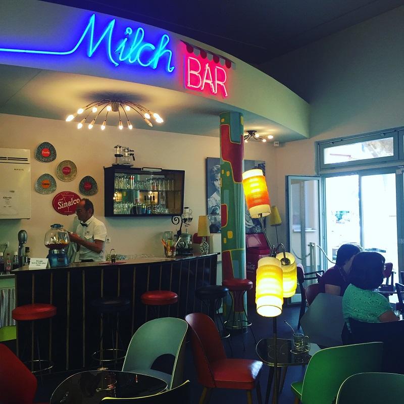 1950s milkshake counter