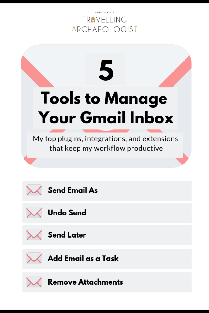 5 Tools To Manage Your Gmail Inbox - Habits of a Travelling