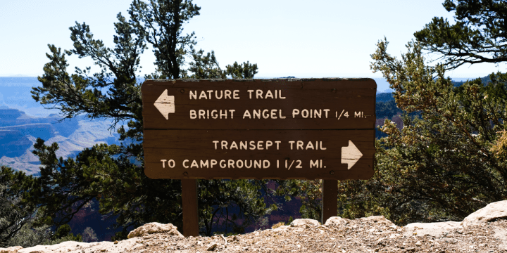Bright Angel Point Trail In Grand Canyon National Park