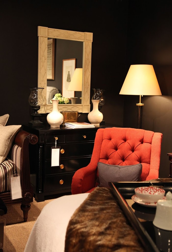 hickory chair co desk girly habitually chic® » what's black & white and red all over?