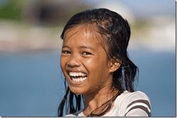 Le sourire éclatant d'un enfant