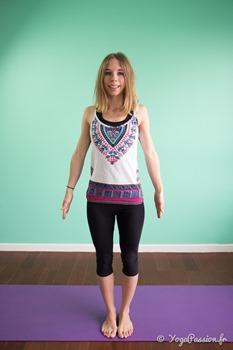 yoga posture montagne