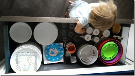 cuisine tiroir vaisselle hauteur des enfants