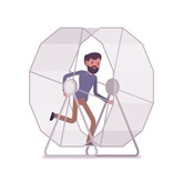 Man Running Wheel