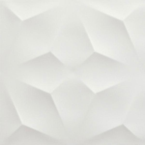 14 sf diamond white matte 3d wall tile