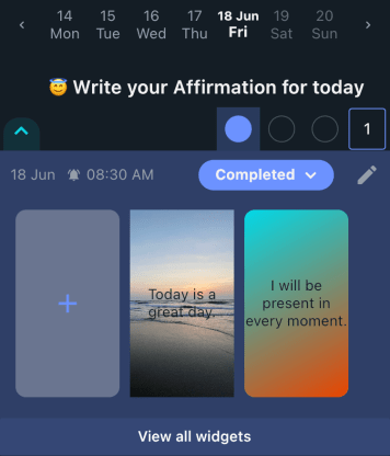 Story and Affirmations - HabitYou