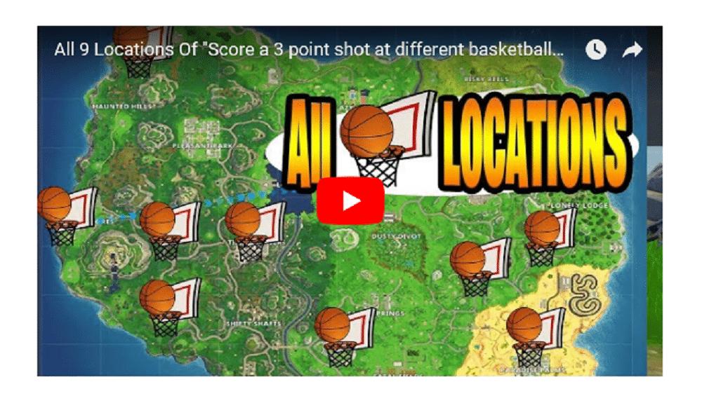 mapa pistas con canastas de baloncesto fortnite
