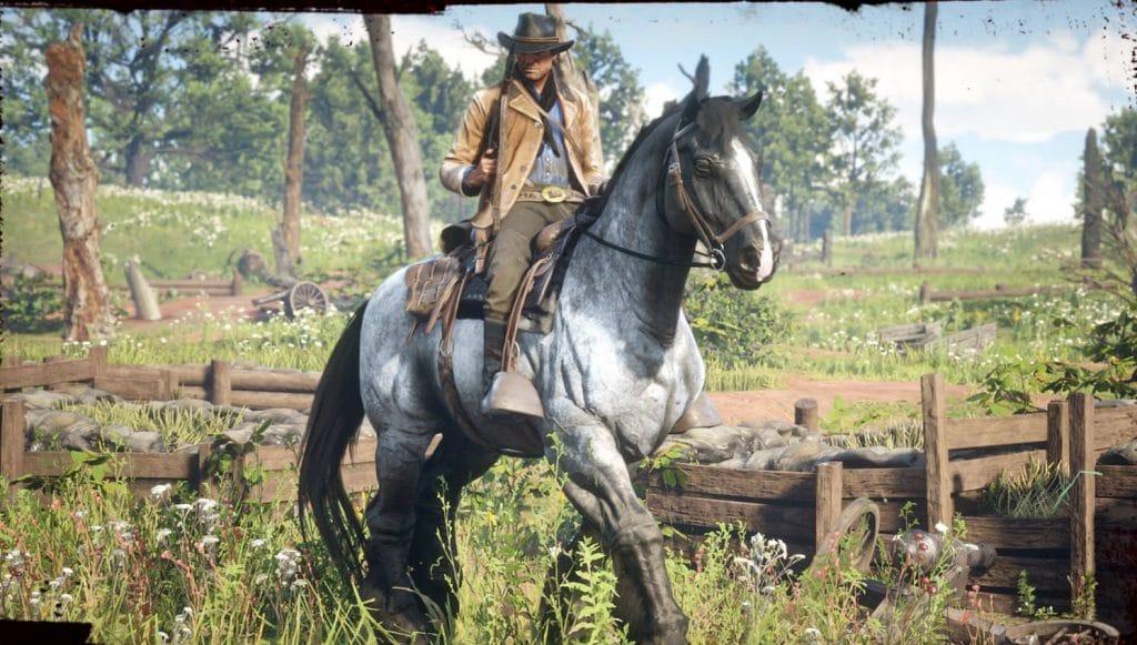 red dead redemption 2 caballo de guerra