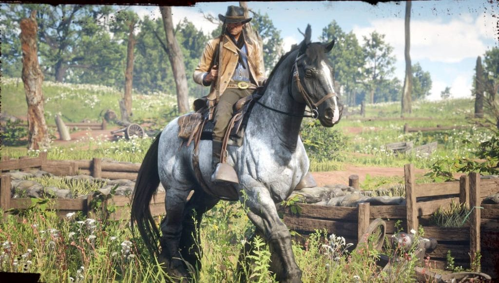 red dead redemption 2 caballo de guerra