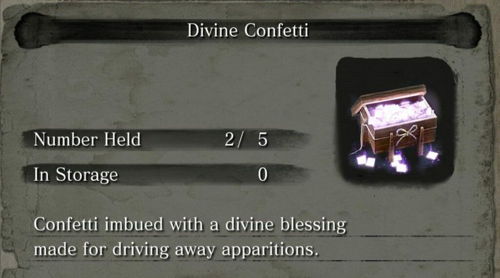 Obtener Confeti Divino Sekiro
