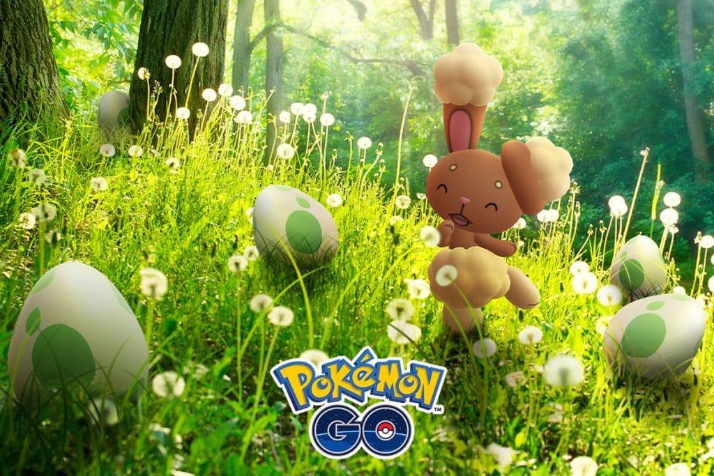 Buneary Shiny en Pokemon Go Eggstravaganza