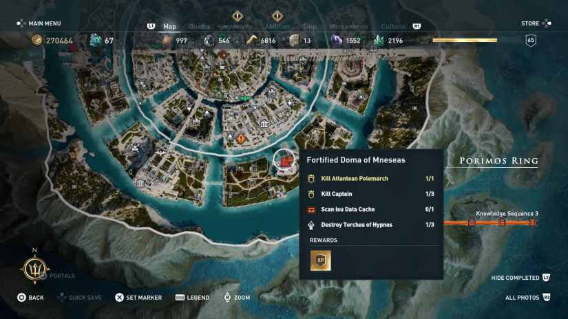 assassins creed odyssey Doma fortificada de Mnesaes