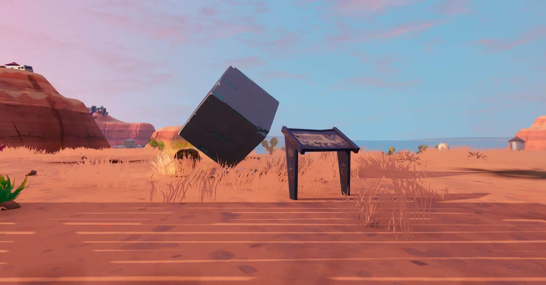 Fortnite Dónde visitar un Monumento de un Cubo - Choque de Mundos Temporada 10