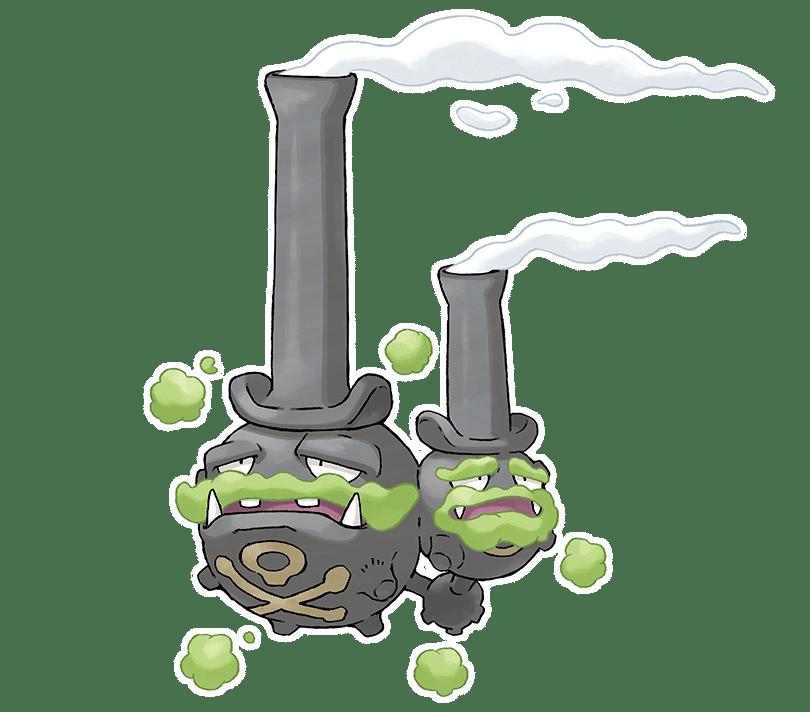 pokemon espada y escudo Galarian Weezing