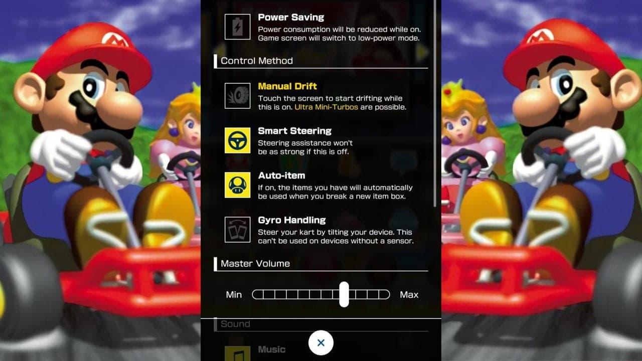 Mario Kart Tour Cómo cambiar el Modo de Conducción