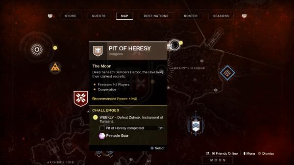 Destiny 2 Shadowkeep - Cómo encontrar el calabozo Pit of Heresy