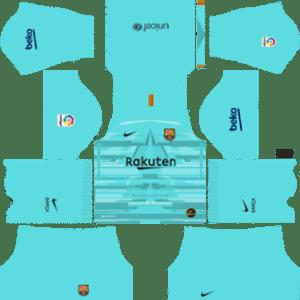 Equipación local del portero del Barcelona - Kits de Dream League Soccer