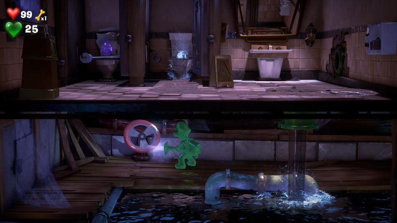 Gema púrpura en los aseos - Tercera planta 2