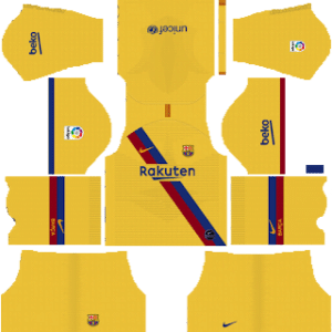 Kit de visitante de portero de Barcelona - Kits de fútbol Dream League