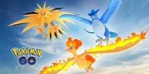 Pokemon Go: Articuno, Zapdos, Moltres, Groudon y Kyogre disponibles