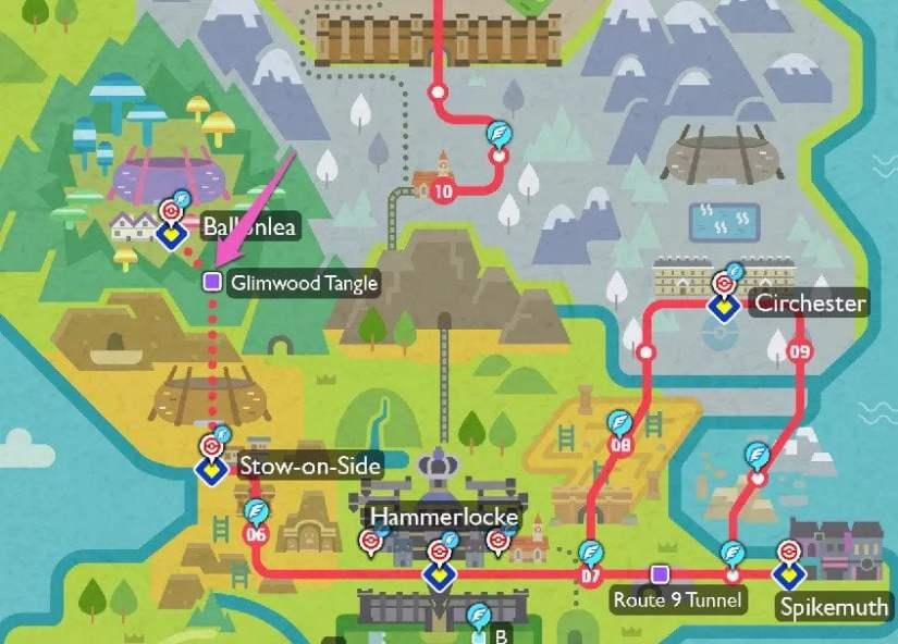 Location of Galarian Ponyta and Rapidash
