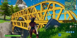 Baila en un Puente de Acero verde, en un Puente de Acero Amarillo y en un Puente de Acero rojo