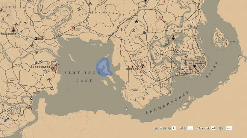 Localización Iguanas Red Redemption 2