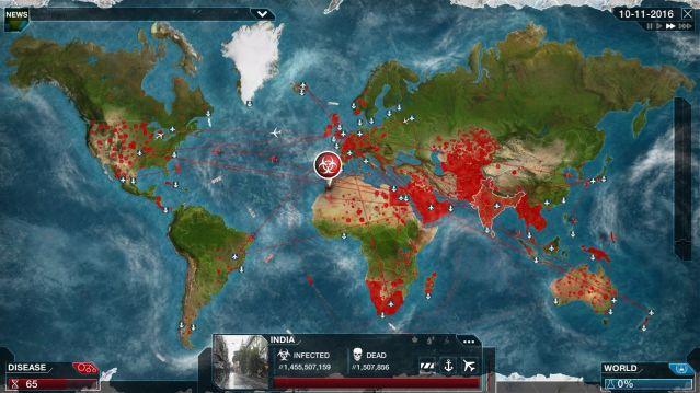 mapa Plague Inc