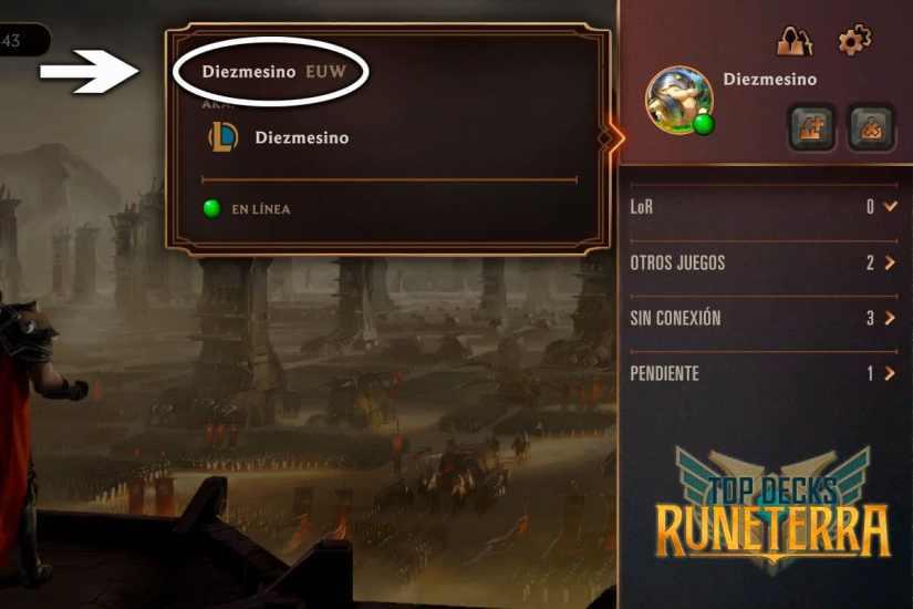 Riot ID Legends of Runeterra