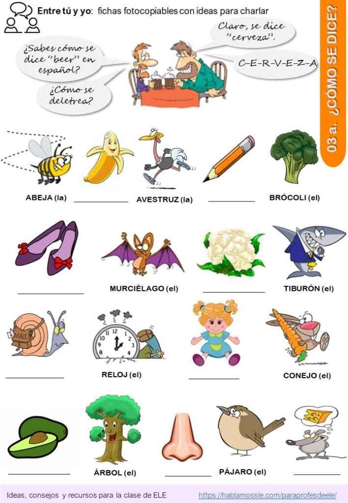 Deletrear y practicar el alfabeto en español