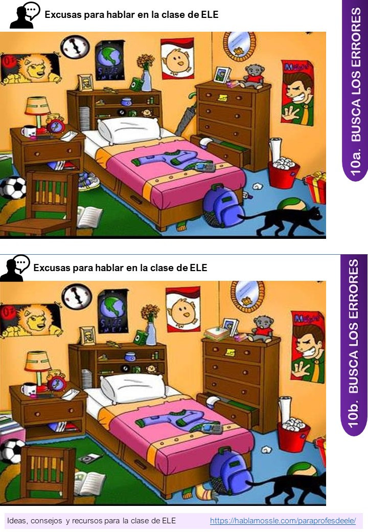 Cómo explotar un juego de diferencias en la clase de ELE