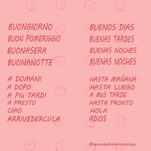 Aprende los saludos en italiano
