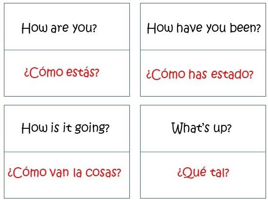 Tarjetas para aprender los saludos en inglés