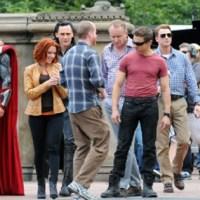 Imágenes de Los Vengadores rodando en Central Park