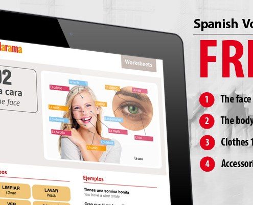 spanish words for the body face etc