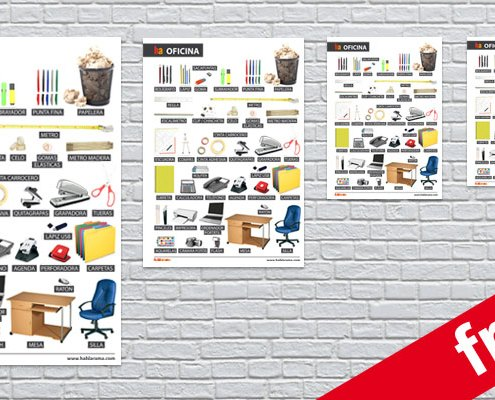 Spanish office equipment posters