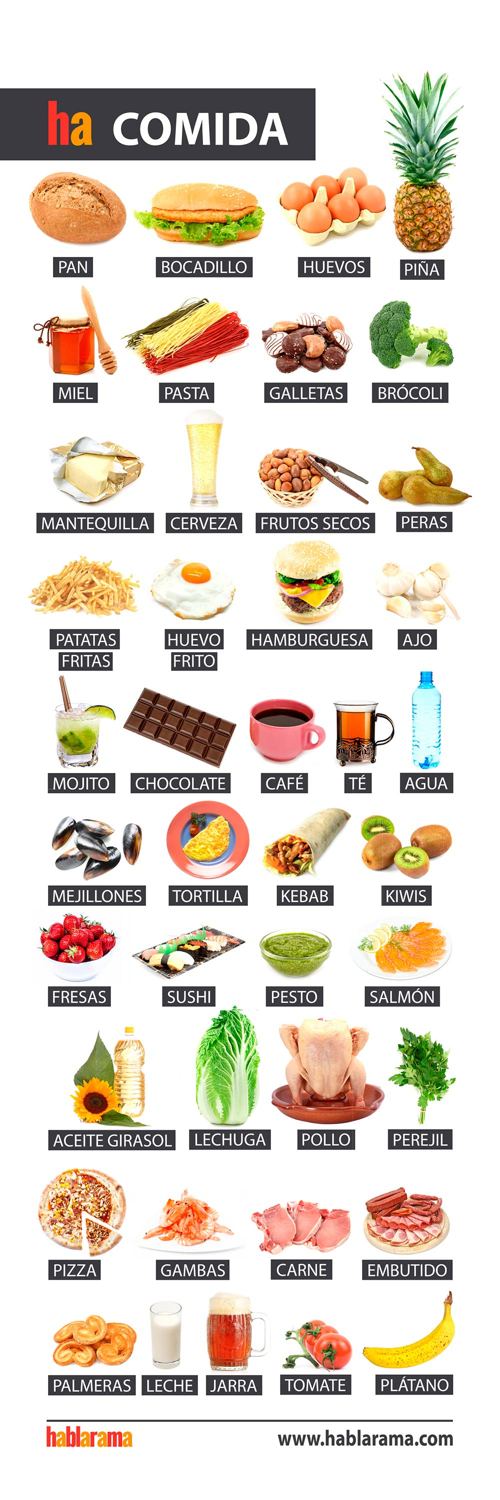 food names in spanish