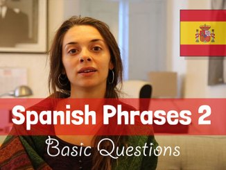 learn basic spanish questions