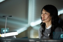 JiHAE es Joon Seung the Korean-American capsule communicator. The global event series MARS premieres November 14 at 8/9c in the U.S. and internationally Sunday November 13 on the National Geographic Channel. (photo credit: National Geographic Channels/Robert Viglasky)